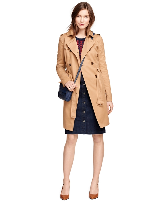 Cotton Trench Coat Khaki