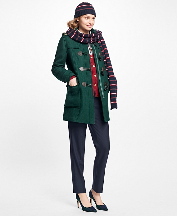 Wool Double-Faced Toggle Coat Dark Green