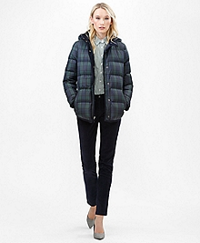 Black Watch Puffer Coat