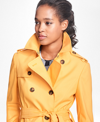 Water-Repellent Cotton-Twill Trench Coat