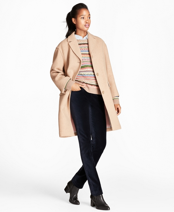Double-Faced Wool-Blend Coat Camel