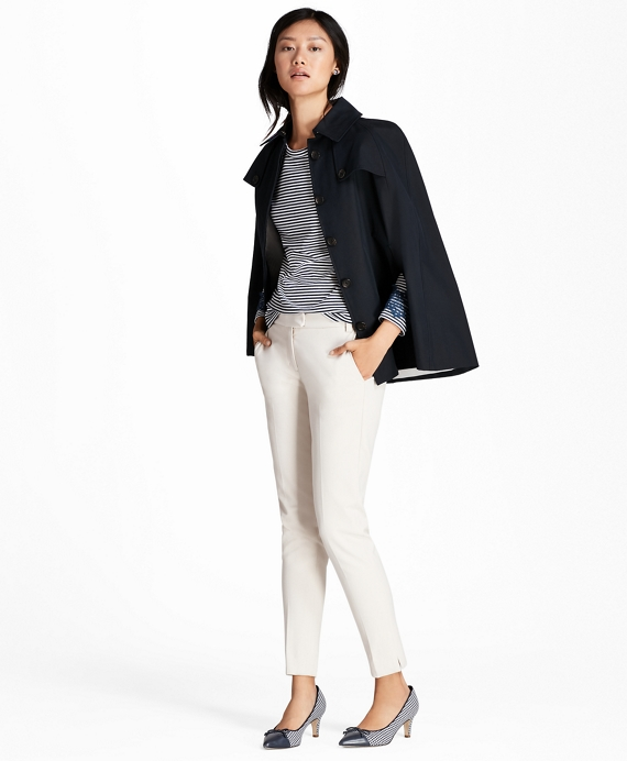 Brooks Brothers Women's Water-Repellent Twill Cape Coat