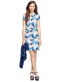 Cotton Hibiscus Print Dress