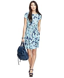 Floral Print Drawstring Dress