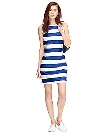 Cotton Stripe Shift Dress