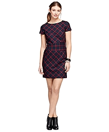 Wool Windowpane Dress