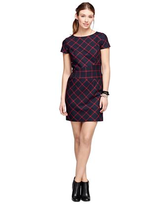 Wool Windowpane Dress
