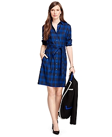 Wool Tartan Shirt Dress