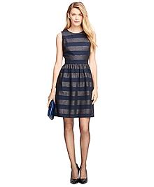 Cotton Blend Stripe Dress