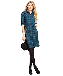 Cotton Gingham Shirt Dress