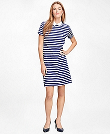 Cotton Knit Stripe Dress