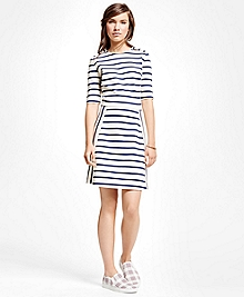 Cotton Blend Ponte Dress