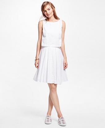 Cotton Eyelet Dress