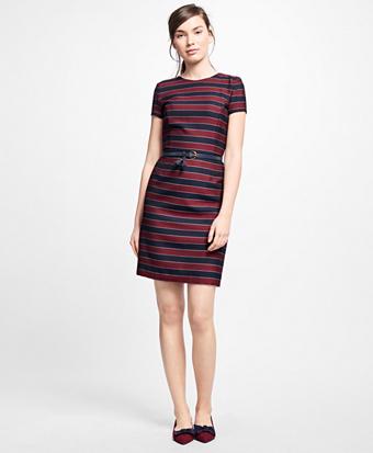 Wool Horizontal-Stripe Dress