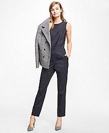 Wool-Blend Pinstripe Jumpsuit