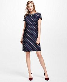 Striped Wool Shift Dress