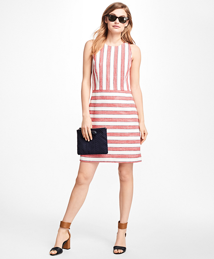 Striped Boucle Sheath Dress
