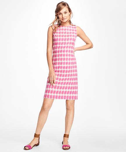 Sleeveless Boucle Dress