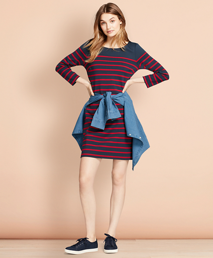 Striped Ponte Shift Dress
