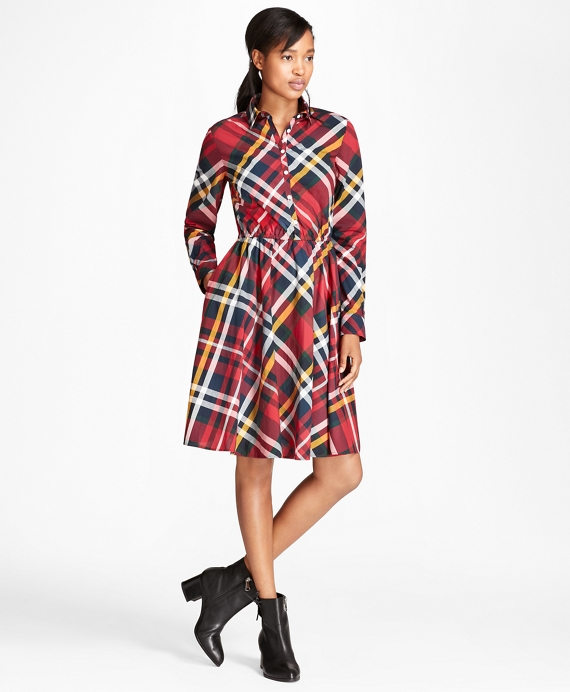 Tartan Cotton Poplin Shirt Dress