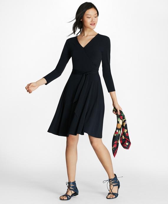 Jersey Faux Wrap Dress