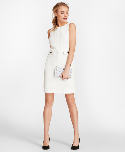 Cotton Boucle Shift Dress