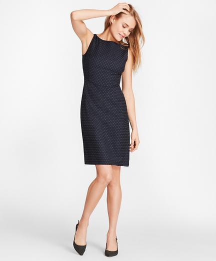 Foulard Wool Twill Sheath Dress