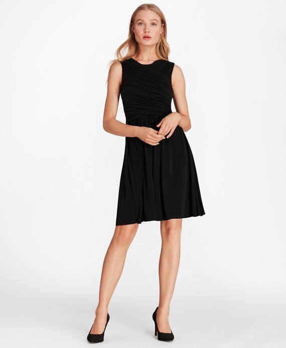 Ruched Jersey Dress Black