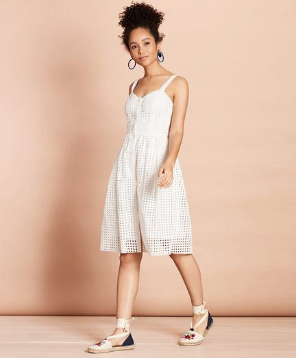 Cotton-Blend Eyelet Dress