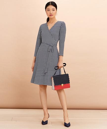 Logo-Print Jersey Wrap Dress