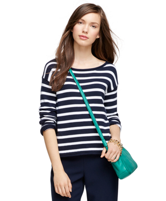 Cotton Crewneck Stripe Sweater