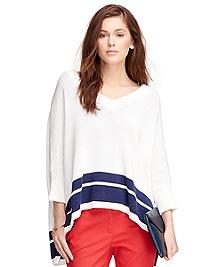 Cotton Poncho Sweater