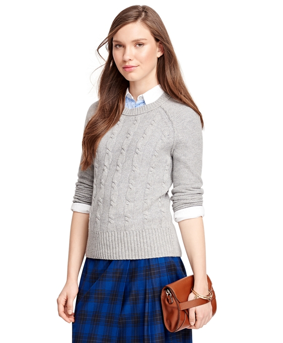 Cashmere Cable Sweater Grey