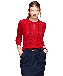 Merino Wool Ruffle Sweater