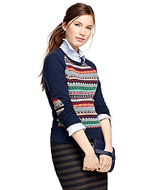 Cotton Blend Fair Isle Sweater