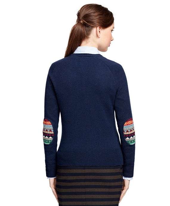 Women's Cotton Blend Raglan Fair Isle Sweater | Brooks Brothers