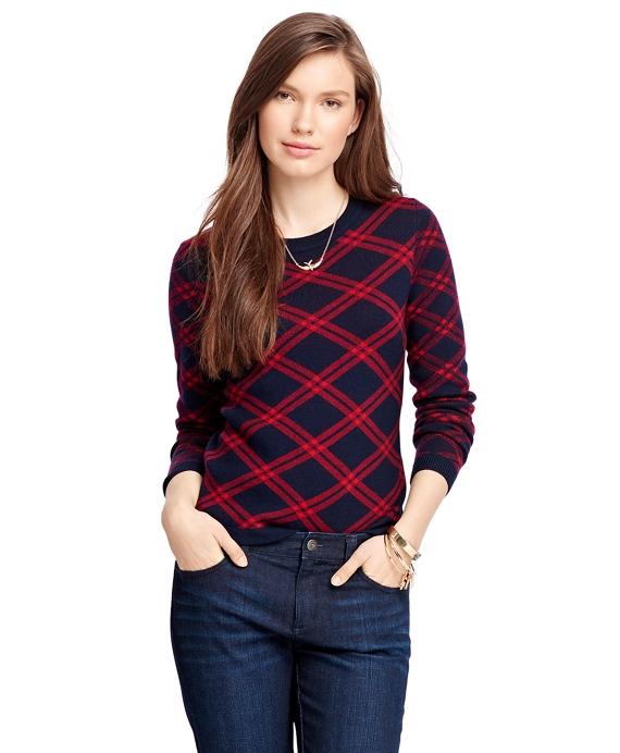 Merino Wool Windowpane Sweater