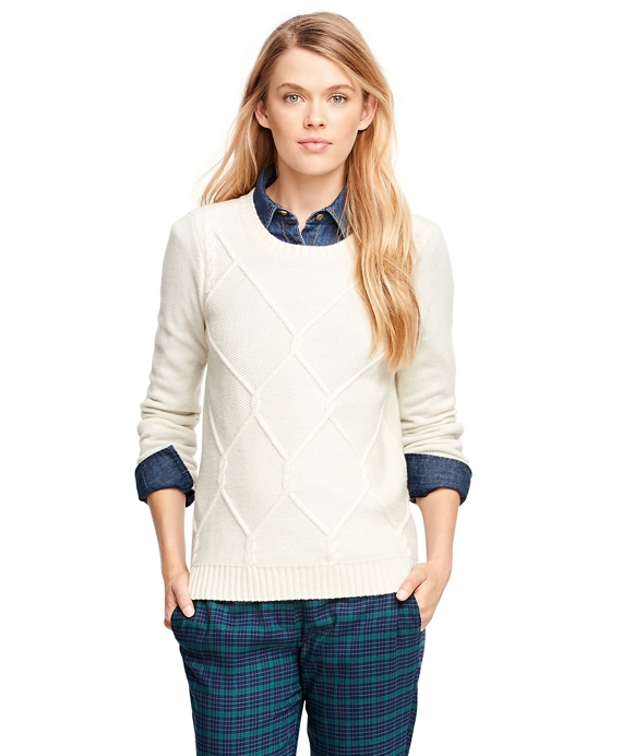 Lambswool Fisherman Sweater Ivory