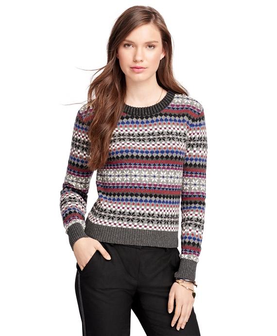 Cotton Fair Isle Crewneck Sweater