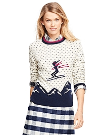 Wool Ski Intarsia Sweater