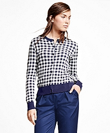 Cotton Blend Gingham Jacket