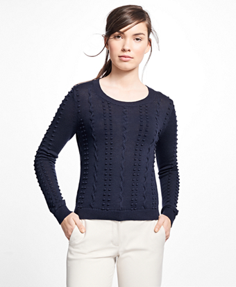 Supima® Cotton Popcorn Sweater