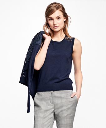 Merino Wool Lace-Back Shell
