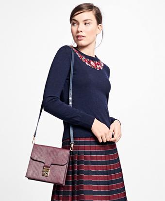 Merino Wool Hand-Embroidered Sweater