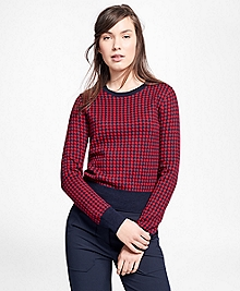 Merino Wool Houndstooth Sweater