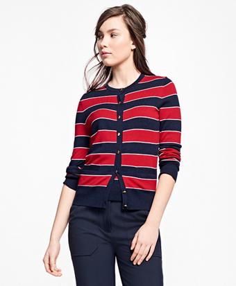 Merino Wool Striped Cardigan