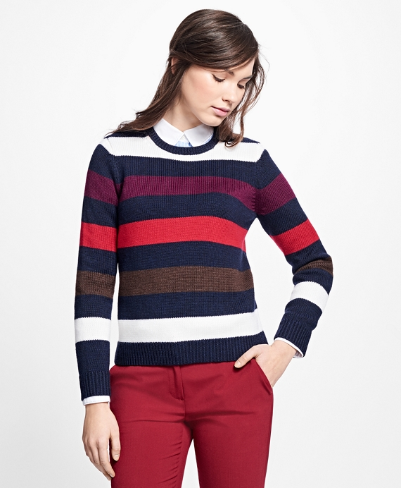 Merino Wool Striped Sweater Multi