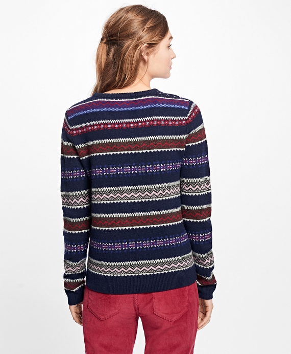 Lambswool Fair Isle Sweater - Brooks Brothers