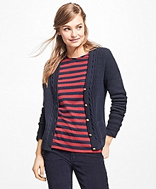 Wool-Blend V-Neck Cardigan