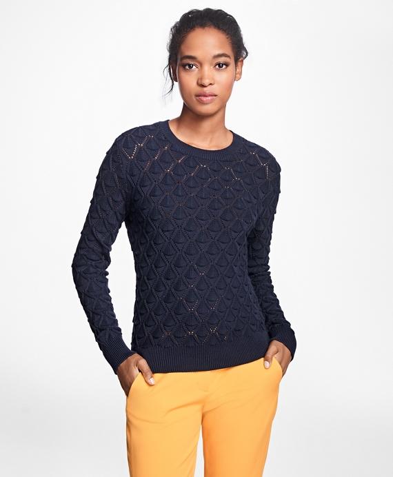 Cotton Pointelle Sweater